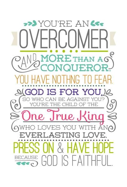 Overcomer (flowers) Bookmark (Bookmark)