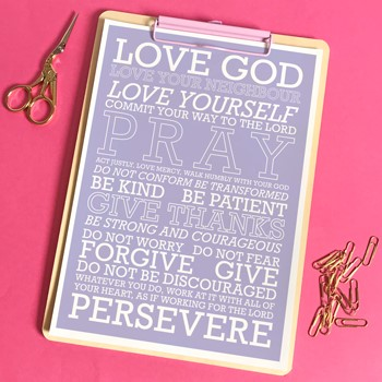 Love God (Purple) A5 Print