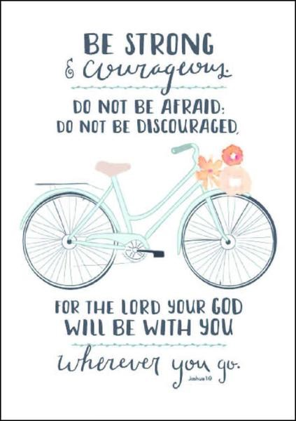 Be Strong (bicycle) A4 Print (General Merchandise)