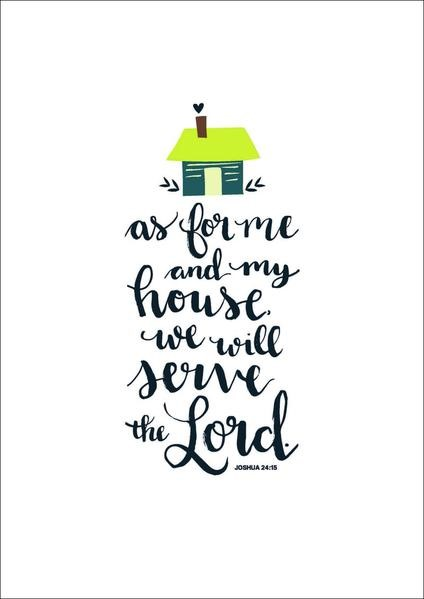 As For Me and My House A3 Print (General Merchandise)