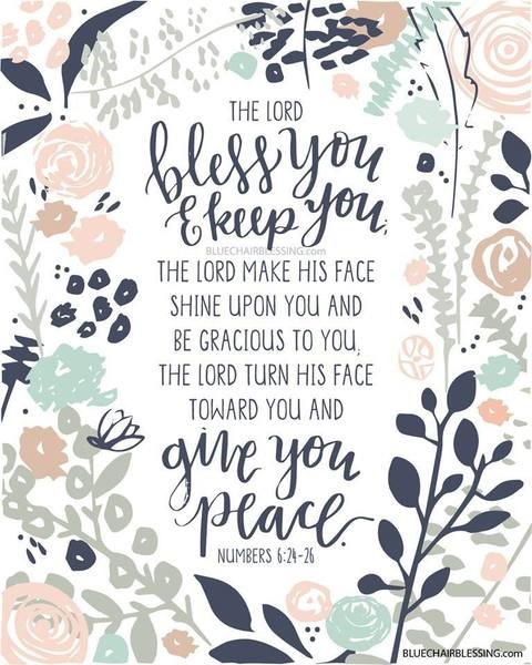 The Lord Bless You A3 Print (General Merchandise)