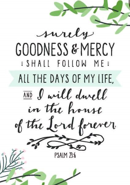Surely Goodness and Mercy A3 Print (General Merchandise)