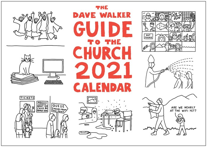 Dave Walker Guide to the Church 2021 Calendar (Calendar)