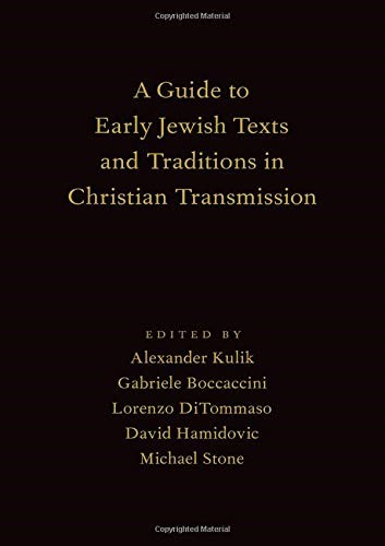 Guide to Early Jewish Texts & Traditions in Christian Transm (Hard Cover)