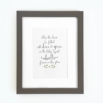 May This Home Framed Print, Grey (10x8) (General Merchandise)