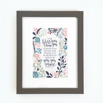 The Lord Bless You Framed Print, Grey (8x10) (General Merchandise)