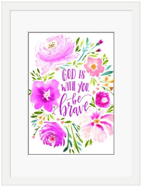 God is With You Framed Print (10x8) (General Merchandise)