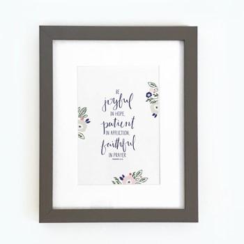 Be Joyful Framed Print, Grey (10x8) (General Merchandise)