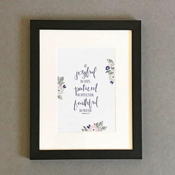Be Joyful Framed Print, Black (7x5) (General Merchandise)