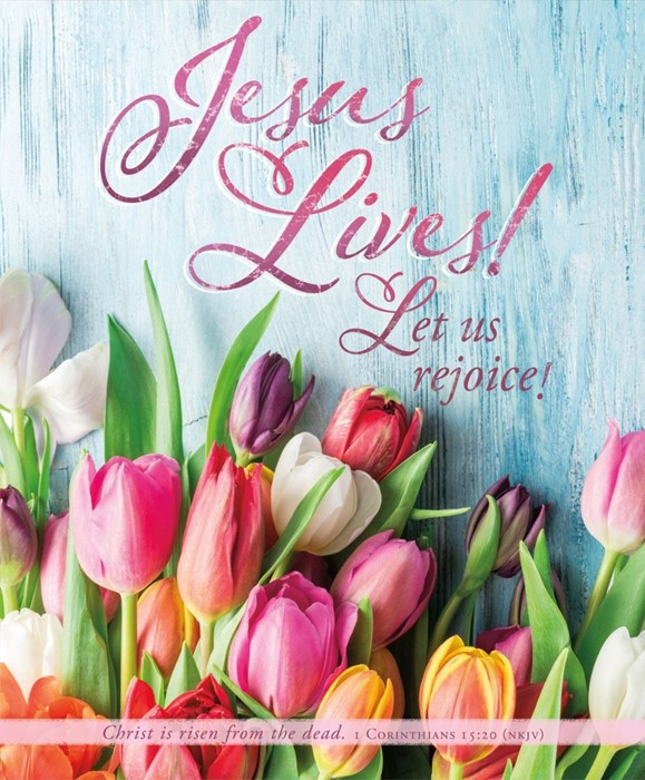 Jesus Lives! Easter Bulletin Lgl (pack of 100) (Bulletin)