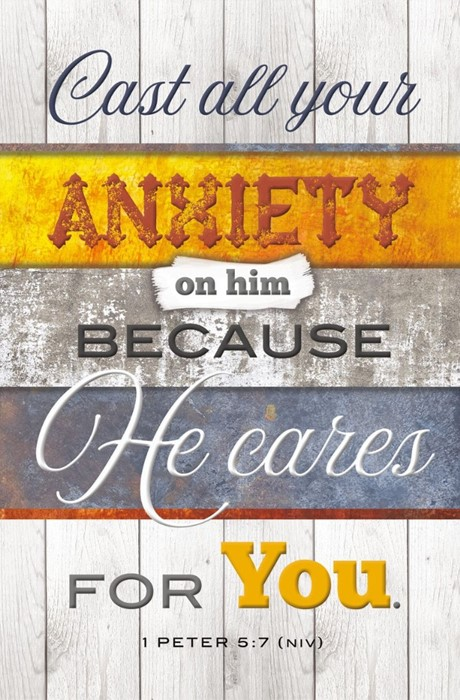 Cast All Your Anxiety on Him Bulletin (pack of 100) (Bulletin)