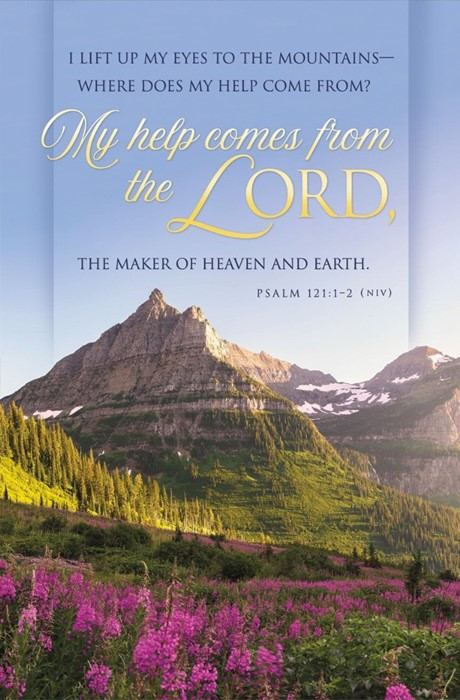 My Help Comes from the Lord Funeral Bulletin (pack of 100) (Bulletin)