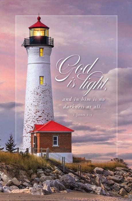 God is Light Funeral Bulletin (pack of 100) (Bulletin)
