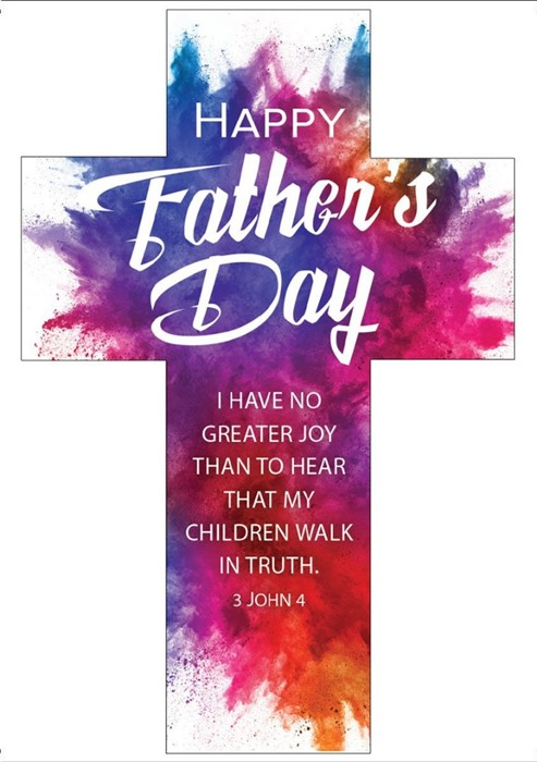 Father's Day Bookmark Cross (pack of 25) (Bookmark)