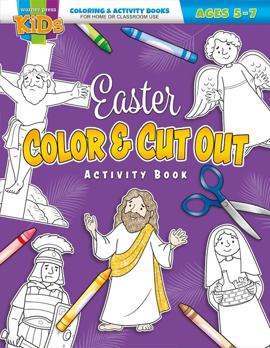 Easter Colour and Cut Out Activity Book (Paperback)