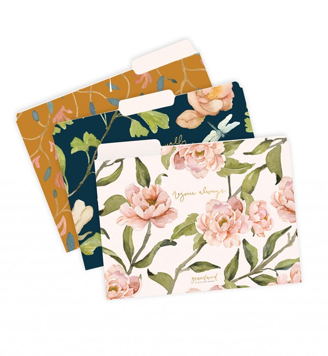 GraceLaced File Folders, 9 Count, 3 Each of 3 Designs, Rejoi (Other Merchandise)