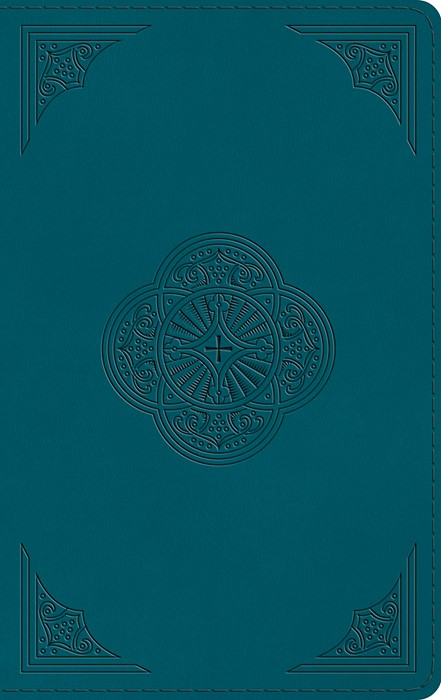 ESV Thinline Bible (TruTone, Deep Teal, Rotunda Design) (Imitation Leather)
