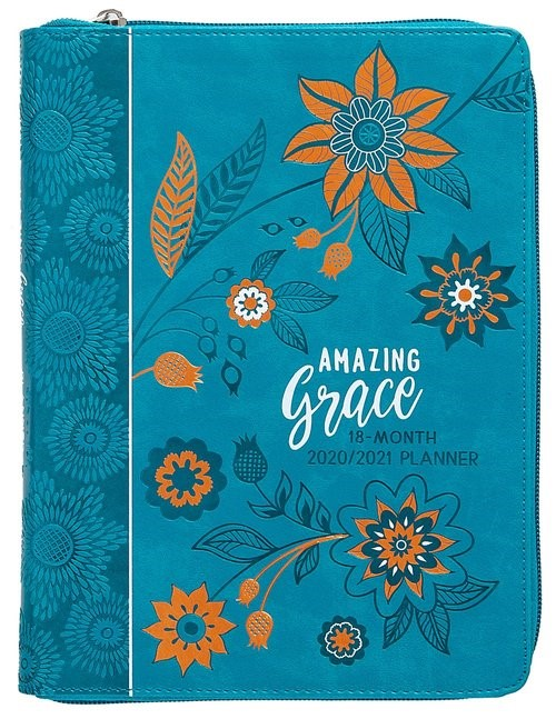 2021 18-Month Planner: Amazing Grace (Imitation Leather)
