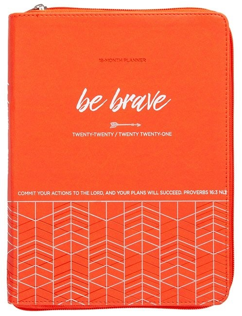 2021 18-Month Planner: Be Brave (Imitation Leather)