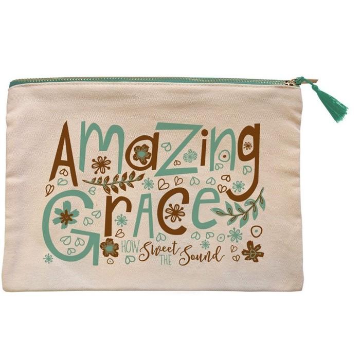 Amazing Grace Canvas Zipper Bag (General Merchandise)