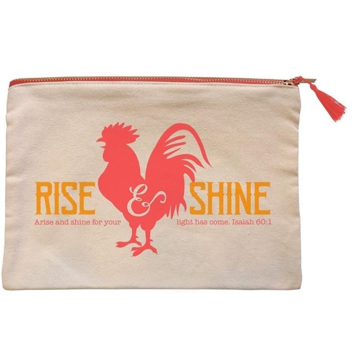 Rise and Shine Canvas Zipper Bag (General Merchandise)