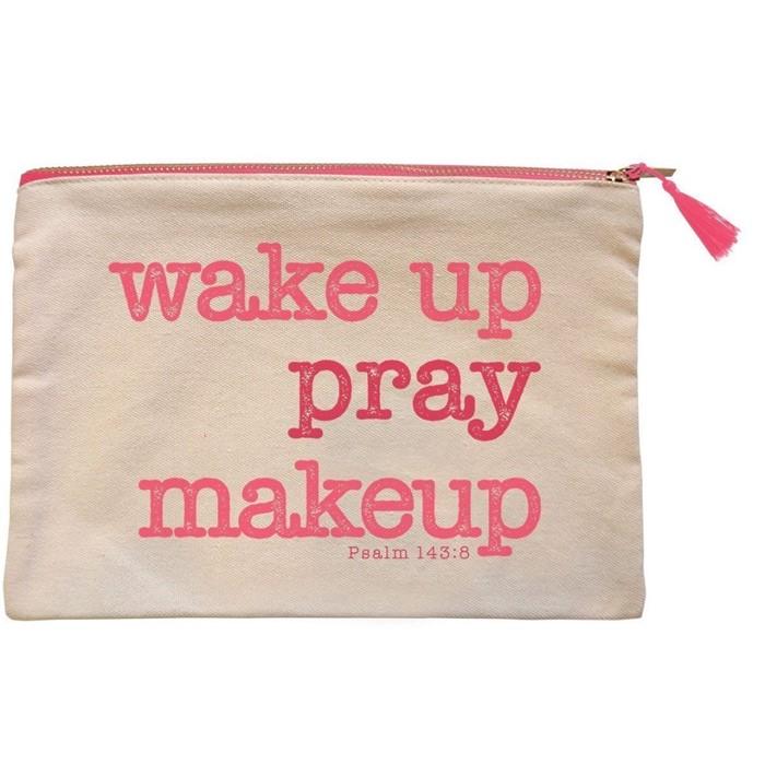 Wakeup Pray Canvas Zipper Bag (General Merchandise)