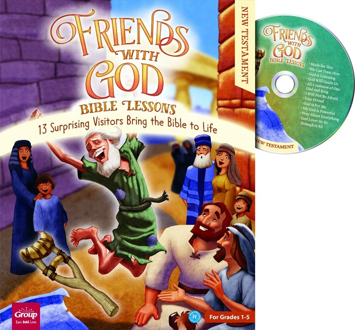 Friends With God Bible Lessons: New Testament (Paperback/CD Rom)