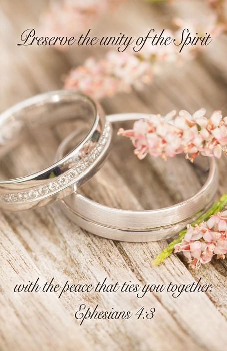 Preserve Wedding Bulletin (Pkg of 50) (Bulletin)