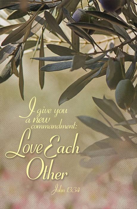 Love Each Other Maundy Thursday Bulletin (Pkg of 50) (Bulletin)