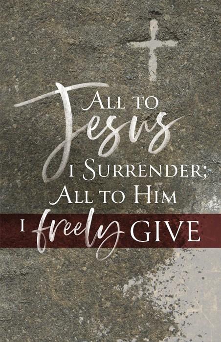 All to Jesus Ash Wednesday Bulletin (Pkg of 50) (Bulletin)