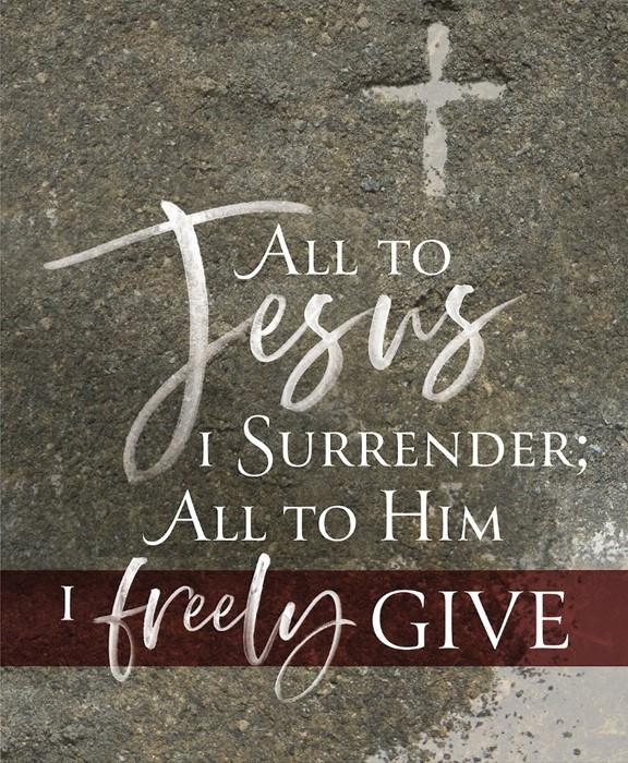 All to Jesus Ash Wednesday Bulletin Large (Pkg of 50) (Bulletin)