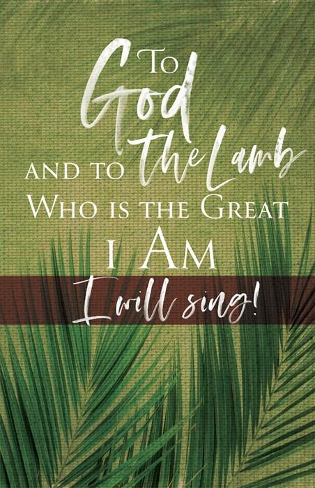 To God Palm Sunday Bulletin (Pkg of 50) (Bulletin)