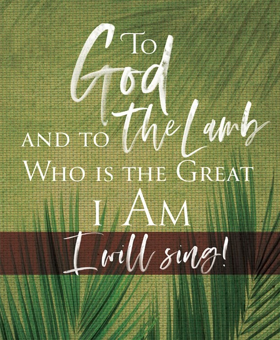 To God Palm Sunday Bulletin Large (Pkg of 50) (Bulletin)