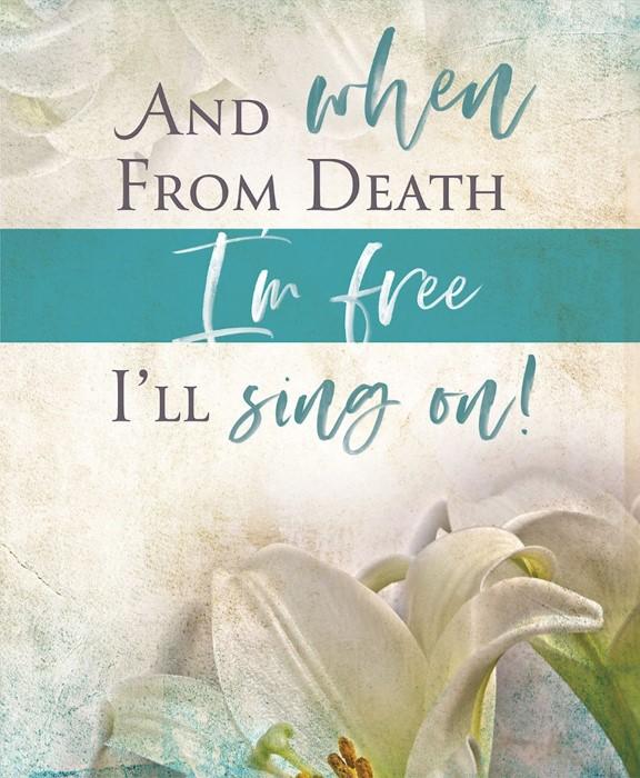 I'll Sing On Easter Sunday Bulletin Large (Pkg of 50) (Bulletin)