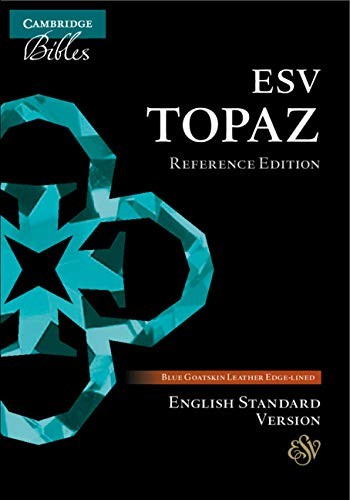 ESV Topaz Reference Bible, Dark Blue Goatskin Leather (Genuine Leather)