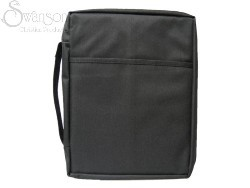 Bible Cover Black Canvas Medium (Bible Case)