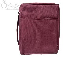 Bible Cover Burgundy Canvas Medium (Bible Case)