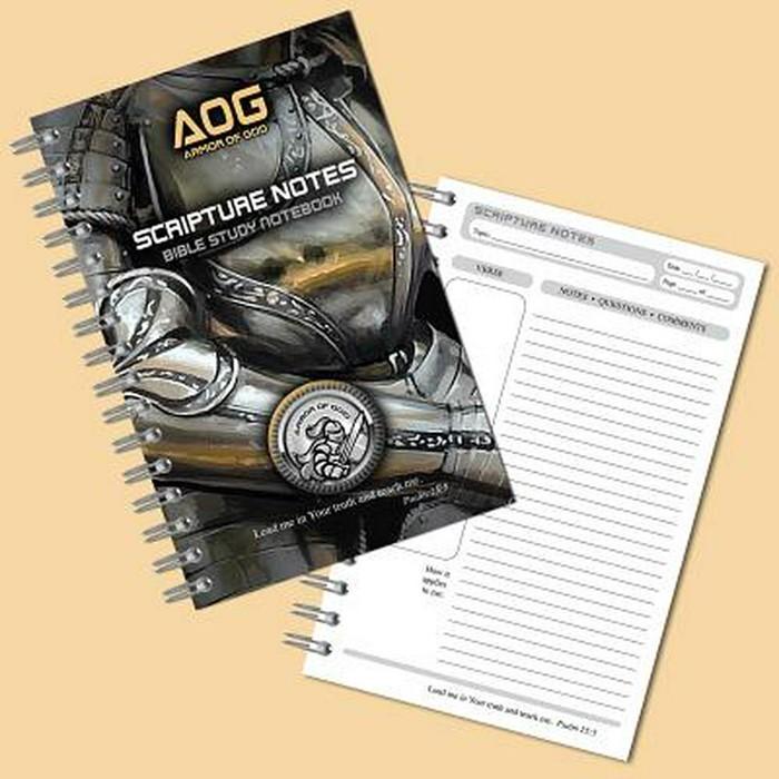 Armor of God Scripture Notebook, Gold/Black (Spiral Bound)