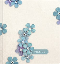 NLT THRIVE Creative Journaling Devotional Bible, Flowers (Hard Cover)