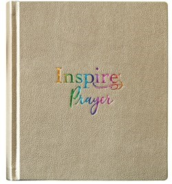 NLT Inspire PRAYER Bible, Hardcover, Metallic Gold (Hard Cover)