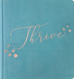 NLT THRIVE Creative Journaling Devotional Bible, Teal (Hard Cover)