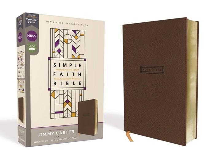 NRSV Simple Faith Bible, Brown, Comfort Print (Imitation Leather)