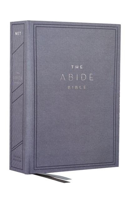 NET Abide Bible, Blue, Comfort Print (Cloth-Bound)