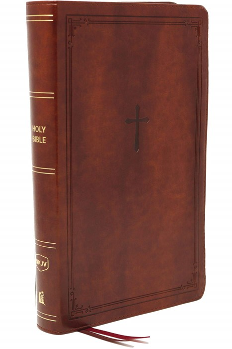 NKJV End-of-Verse Reference Bible, Personal Size, Brown (Imitation Leather)