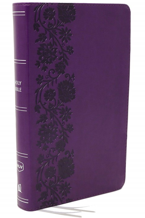 NKJV End-of-Verse Reference Bible, Personal Size, Purple (Imitation Leather)