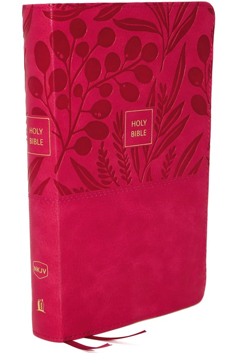 NKJV End-of-Verse Reference Bible, Personal Size, Pink (Imitation Leather)