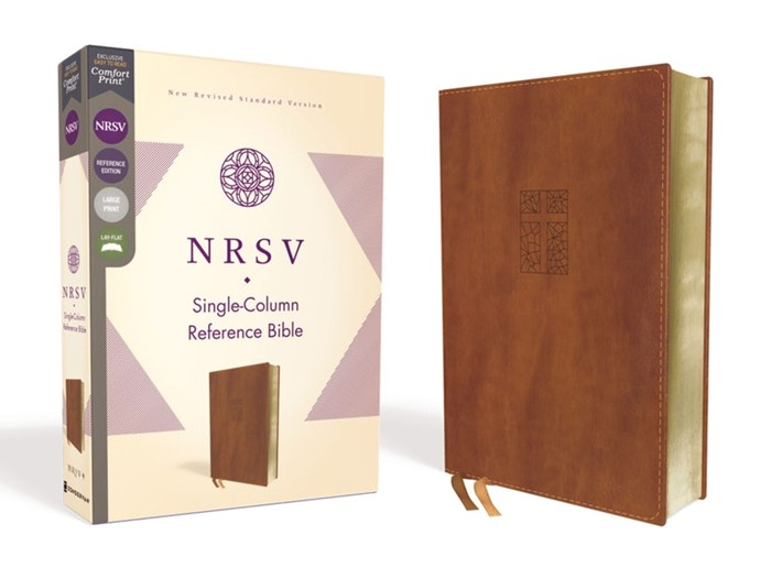 NRSV Single-Column Reference Bible, Brown (Imitation Leather)