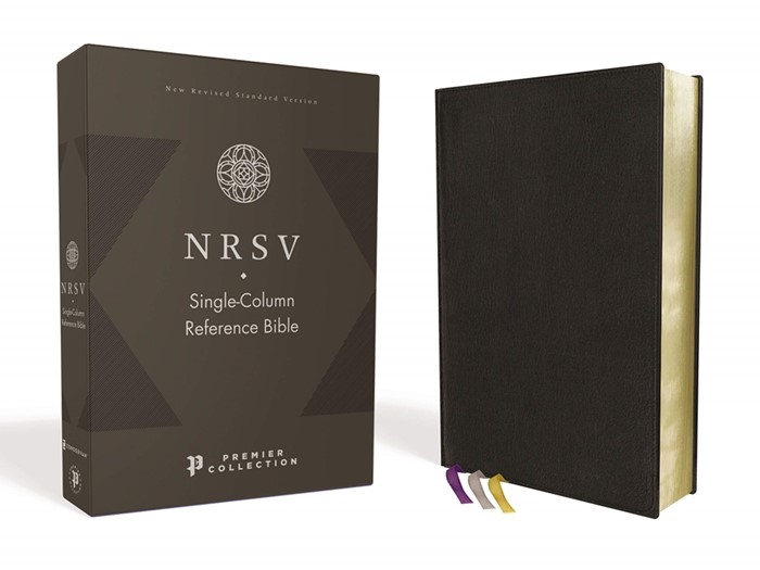 NRSV Single-Column Reference Bible, Black Goatskin Leather (Genuine Leather)