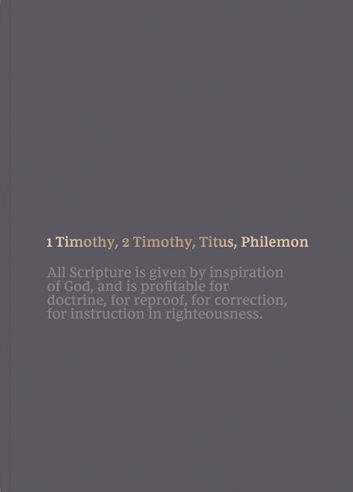NKJV Bible Journal: 1-2 Timothy, Titus, Philemon (Paperback)