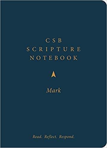 CSB Scripture Notebook, Mark (Paperback)